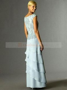 a1f5045e4d38b A-line V-neck Lace Short Ankle-length Chiffon Light Sky Blue Mother of the  Bride Dresses