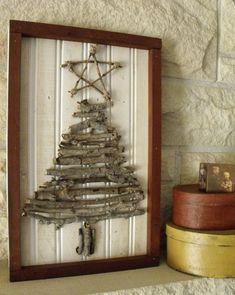 sapin Noël bois décoration-scandinave brindilles