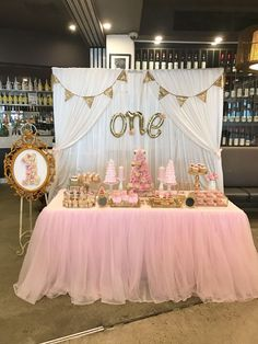 Items similar to White Satin Wedding Party Event Dessert/Lolly/Bridal Table Photography Backdrop on Etsy 1st Birthday Party For Girls, Girl Birthday Themes, Princess Birthday, Birthday Party Decorations, Birthday Ideas, Pink And Gold Birthday Party, Tutu Table, Bridal Table, Table Wedding