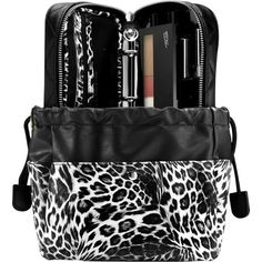 TRISH MCEVOY The Power of Organisation Purse Organiser and Make-up... (495 AUD) ❤ liked on Polyvore featuring beauty products, makeup, trish mcevoy, gel eye liner, shimmer makeup, trish mcevoy makeup and leopard makeup