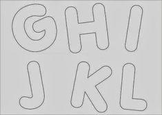 Moldes de Letras do Alfabeto em Eva para Imprimir - Toda Atual