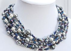 Hey, I found this really awesome Etsy listing at https://www.etsy.com/listing/480811305/chunky-pearl-necklacesilver-gray