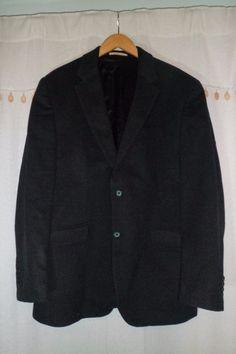 D.S. Dundee  Cashmere Blazer/sportcoat/suit jacket men's 44R Gray #DSDundee #TwoButton