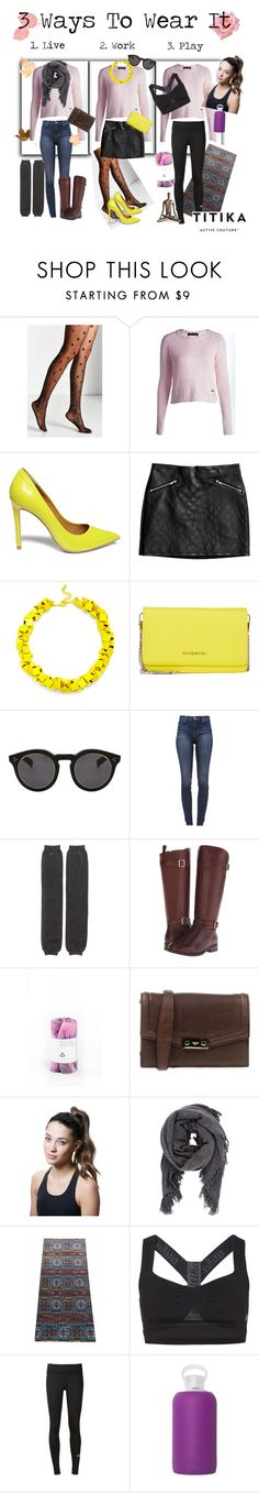 """""""3 Ways to Wear It - Sam Sweater"""" by titikaactive ❤ liked on Polyvore featuring Titika, Steve Madden, H&M, Slate & Willow, Givenchy, Illesteva, J Brand, Ports 1961, Isabel Marant and adidas"""