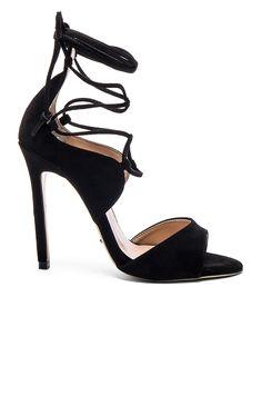 e4e177056b28 Shop for Tony Bianco Karim Heel in Black Kid Suede at REVOLVE. Black Lace Up  ...