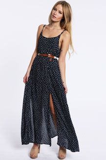 Minkpink Polka Dot Wishful Thinking Maxi Dress