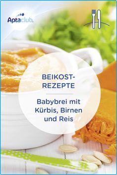 Beikost-Rezepte für Kinder: Ein leuchtendes Orange und ein leicht süßliches Aroma - dein Baby wird diesen Kürbisbrei lieben. Das Rezept findest du auf aptaclub.at. Little Babies, Cantaloupe, Fruit, Orange, Food, Light Soups, Light Recipes, Cooking, Food Baby