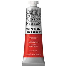 Winsor & Newton® Winton Oil Colour™ Tube, 37 ml Paint in Cadmium Red Deep Hue Oz Series, Creative Poster Design, Titanium White, Red Media, Oil Painters, Michael Store, Palette Knife, How To Look Pretty