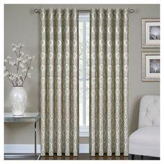 "Vegas Window Curtain Panel Silver (50""x84"") - Homewear"