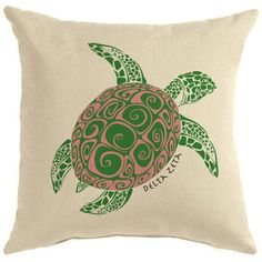 Greek Graffiti's Delta Zeta Sorority Symbol Pillow Go Greek, Greek Life, Throw Pillow Cases, Throw Pillows, Delta Zeta, Sorority, Graffiti, Turtles, Favors