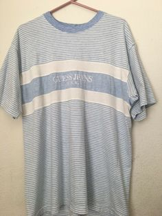 c4d7160ad21a Rare Vintage 90s Georges Marciano USA Guess Jeans Striped T Shirt Size Mens  L #fashion