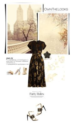 """""""Party looks"""" by jan31 ❤ liked on Polyvore featuring Kaisercraft, Burberry, Rochas and Aspinal of London"""