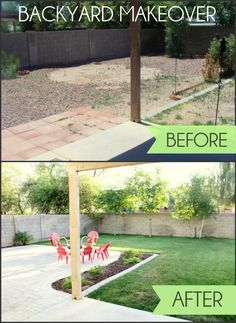 Backyard Makeover - such a huge transformation!