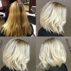 """Color correction by @linohair with Olaplex and Redken! Double tap if you're going lighter for Fall! """"Her base is 8NA Redken Cover Fusion + 20vol, Highlighted with Redken Flashlift + 20vol. + Olaplex. During the last 15 min. of processing I applied Flashlift + 30vol + Olaplex to the hair in between the foils. I then toned the root with Redken Shades EQ 9V+9P while toning the ends with Shades EQ 9P for 5 min. After rinsing I applied Olaplex No.2 all over for 10 min.""""#olaplex #fallhair…"""