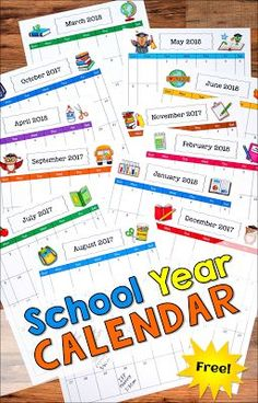 Have You Grabbed Your Free School Year Calendar From Laura Candler? The Portrait-Style Pages Are Perfect For Storing In Binders Free Teaching Resources, Teaching Tips, Teacher Resources, Teaching Math, Elementary Teacher, Elementary Education, Kindergarten Teachers, Upper Elementary, Beginning Of The School Year