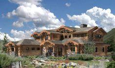 Roanoke Valley Handcrafted log home floorplan