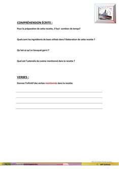 RATATOUILLE Ratatouille, Food In French, Comprehension Exercises, French Dishes, Kitchen Aid Appliances, Vocabulary, Fle
