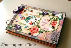 Libro de firmas para boda http://www.onceuponatimeinscrapland.blogspot.com.es/2014/03/mi-libro-de-boda-secret-garden.html