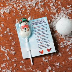 """""""Meaning of the Snowman"""" Suckers with Card - TerrysVillage.com"""