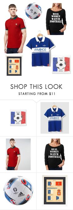 """""""Euro 2016 Final"""" by alexxa-b-charles ❤ liked on Polyvore featuring Fred Perry, adidas, men's fashion and menswear"""