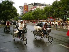 Working tricycles. Beijing - China