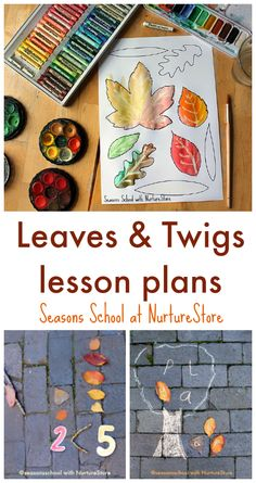 Leaves and twigs lesson plans, leaf centers for elementary, easy leaf crafts, easy twig crafts, fall activities for elementary School Age Activities, Autumn Activities For Kids, Fall Preschool, September Preschool, Montessori Activities, Educational Activities, Outdoor School, Outdoor Classroom, Twig Crafts