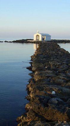 Amazing view of St Nicolas church in Georgioupolis, Chania, Crete