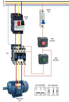 3 Phase Motor Wiring Diagrams Electrical Info PICS in 2019 Electrical Circuit Diagram, Electrical Wiring Diagram, Electrical Work, Electrical Projects, Electrical Installation, Electronic Circuit Projects, Electronic Engineering, Electrical Engineering, Electronics Basics