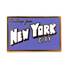 New York Postcard Pin from Valley Cruise Press