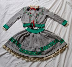 Beautifully embroidered Tyrolean outfit