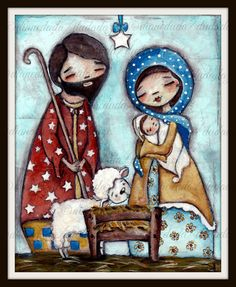 Nativity print set by me, Diane Duda.    You get:    Holy Family (8x10)  Wise Men (8x10)  Sheperds (8x10)  Angel (5x7)    They are printed 8.5 x 11 #110
