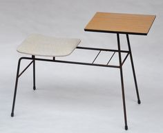 Telephone table designed by Clement Meadmore.