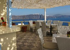 Pelekanos Restaurant in Oia, Santorini  - Most romantic spot to see the sunset.