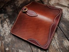 Handcrafted wallet from Hollows Leather.  Men, gifts, accessories