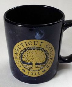 Connecticut College Coffee Mug Teaching Academic Tree Seal Emblem Navy Blue Cup