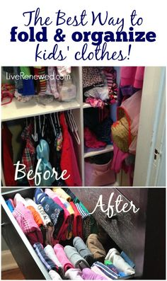 Best Way to fold and organize your kids' clothes