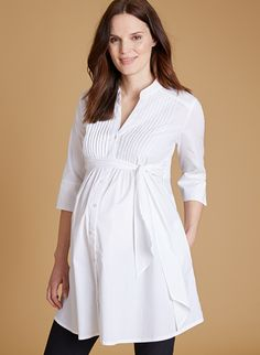 Libby Maternity Tunic Dress in White at Isabella Oliver. Shop our luxury collection today for stylish, premium quality maternity clothes that will last. Cute Maternity Dresses, Stylish Maternity, Maternity Tunic, Maternity Fashion, Nursing Clothes, Nursing Dress, Pregnancy Outfits, Pregnancy Shirts, Hijab Fashion 2016