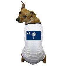 """""""South Carolina State Flag"""" Dog T-Shirt"""