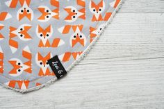 Orange Fox Bandana Bib - Levi & Evelyn