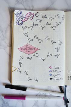 Harry Potter Bullet Journal Layout October Bullet Journal Bullet Journal Workout, Bullet Journal Mood Tracker Ideas, Bullet Journal 2019, Bullet Journal Notebook, Bullet Journal Themes, Bullet Journal Inspiration, Bullet Journal Layout Ideas, Bullet Journal Decoration, Fitness Journal