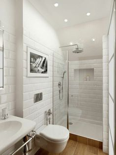 Which tile in the small bathroom Exciting Small Bathroom With Shower Design Bathroom Bathroom Design Small Bathroom Storage, Bathroom Design Small, Small Bathrooms, Bathroom Designs, Small Bathroom Showers, Tile Bathrooms, Master Bathrooms, Bath Design, Bad Inspiration