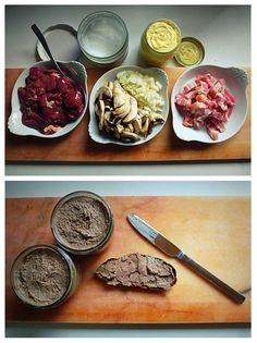 Easy Pate from www.cookingTF.com.  Made from chicken livers, this pate is mild and flavorful, with bacon, mushrooms and mayo.
