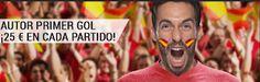 el forero jrvm y todos los bonos de deportes: bwin autor primer gol 25 euros cada partido Euroco...