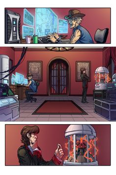 Page 2 of Chase art by William Blankenship