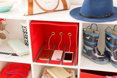 DIY these fabric cubby boxes to make organizing a breeze.