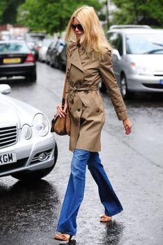 Street style: Claudia Schiffer – EU E A MINHA BOCA GRANDE