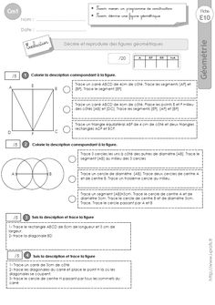 cm1: Evaluation la SUIVRE UN PROGRAMME DE CONSTRUCTION