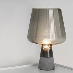 Modern Smoke Grey Industrial Table Lamp Bedroom Bedside Concrete Glass Desk Lamp Reading Living Room Home Offices Makeup Table Beautiful Table Lamp, Glass Lamp, Table Lamp, Grey Table Lamps, Grey Glass, Light Table, Glass Desk Lamps, Concrete Lamp, Nightstand Lamp