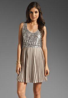 BB DAKOTA Olsen Sequin Pleated Dress in Malt at Revolve Clothing - Free Shipping!