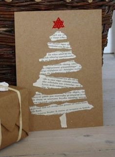 Easy DIY Holiday Crafts - Old Hymnal Tree - Click pic last . - Easy DIY Holiday Crafts – Old Hymnal Tree – Click pic for 25 Handmade Christmas Cards Ideas for - Christmas Card Crafts, Homemade Christmas Cards, Holiday Crafts, Christmas Ornaments, Ornaments Ideas, Christmas Cards Handmade Kids, Cool Christmas Cards, Christmas Card Ideas With Kids, Diy Holiday Cards